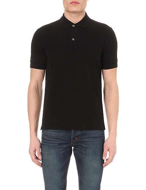 TOM FORD Short-sleeved cotton-piqué polo shirt