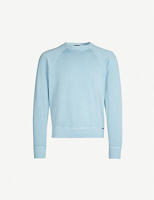 bbc2adfd67a TOM FORD Crewneck cotton-jersey sweatshirt