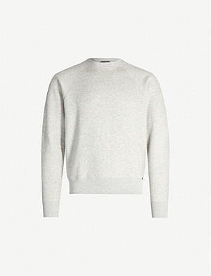 TOM FORD Crewneck cotton-blend sweatshirt