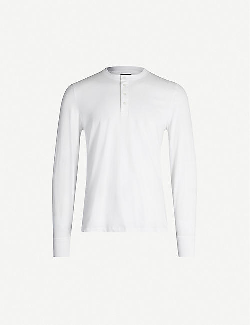TOM FORD Button-detail crewneck cotton-jersey top