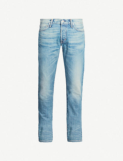 TOM FORD Faded slim-fit straight-leg jeans