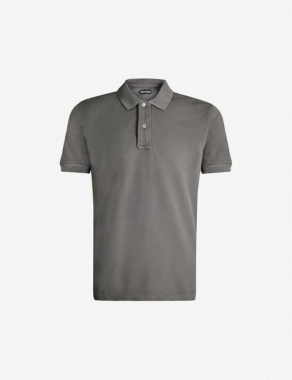 5a283a524c68b TOM FORD - Logo-embroidered cotton-piqué polo shirt   Selfridges.com