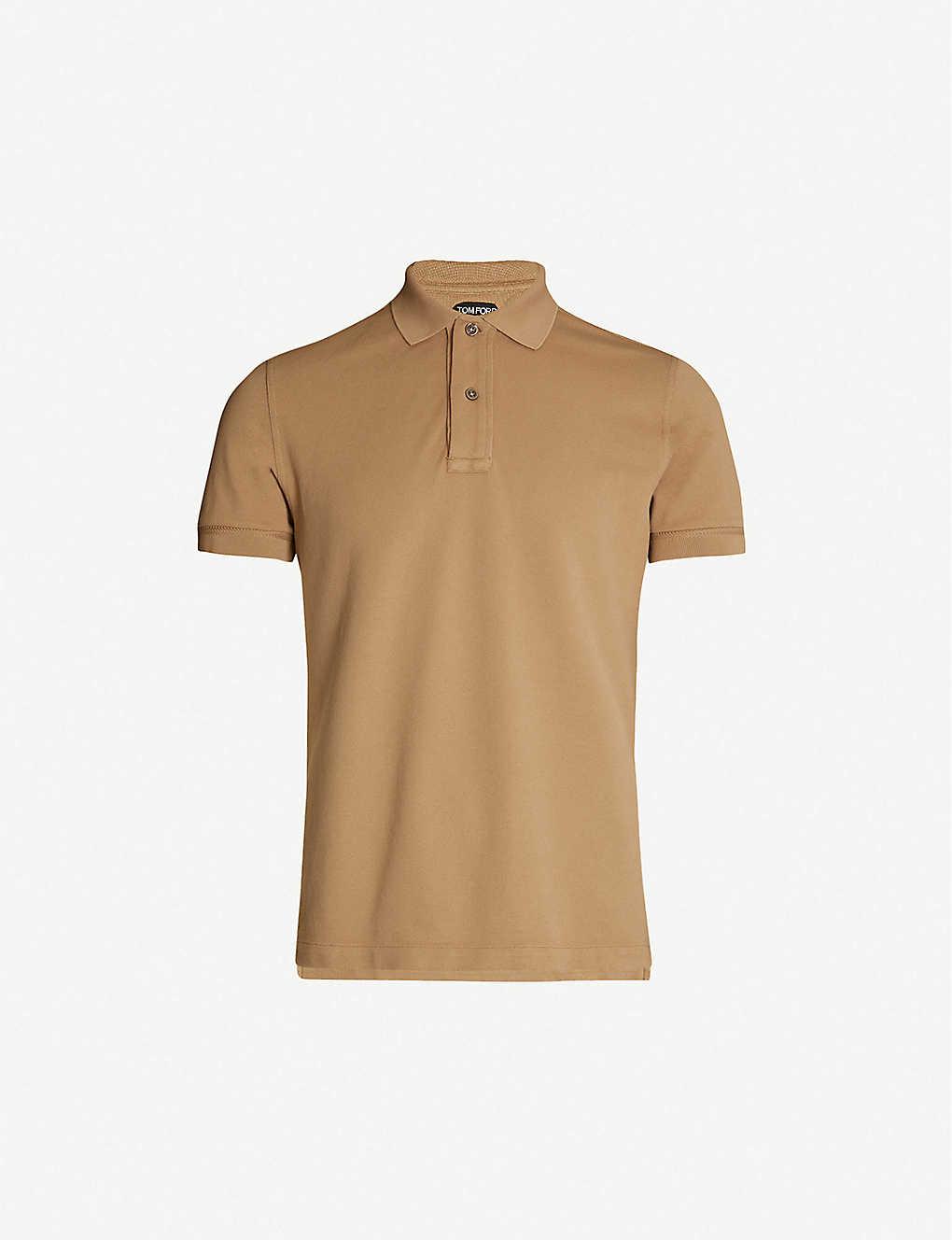 ad83bdbf95086 TOM FORD - Button-up cotton-piqué polo shirt   Selfridges.com