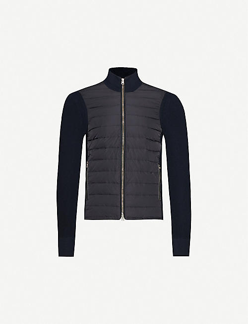 TOM FORD Quilted shell and wool jacket