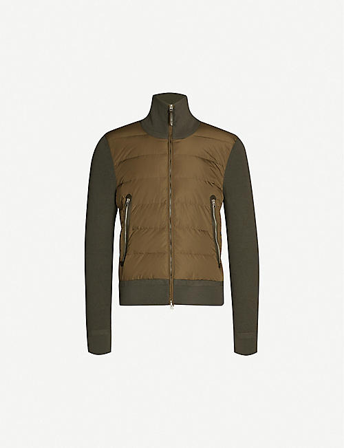 TOM FORD Padded shell-down and wool jacket