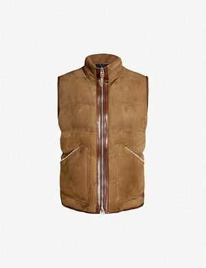 TOM FORD Padded suede gilet