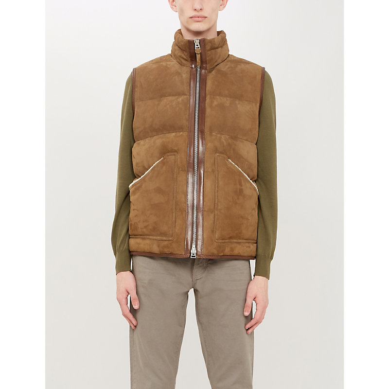 Tom Ford Tops PADDED SUEDE GILET