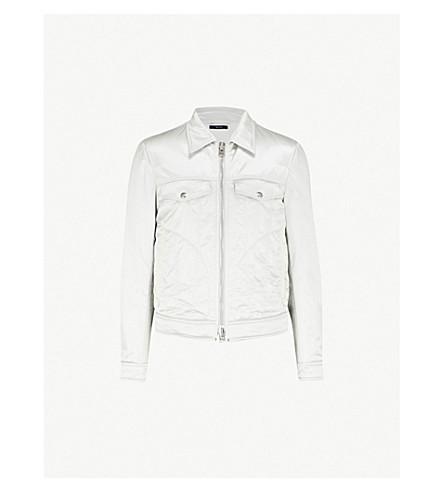 TOM FORD Western satin jacket (Silver