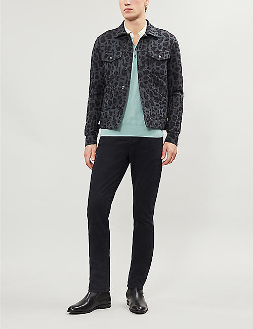 TOM FORD Leopard-print denim jacket