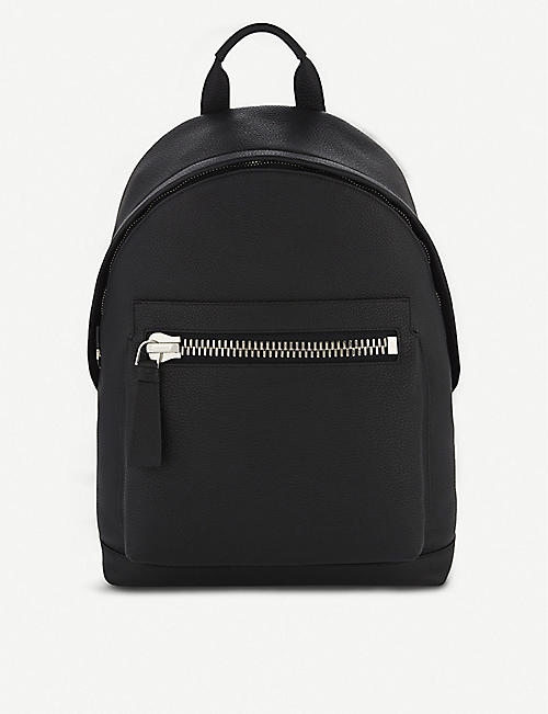 TOM FORD: Buckly leather backpack