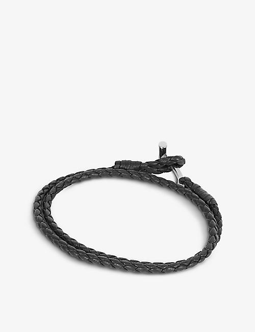 TOM FORD Braided wrap leather bracelet