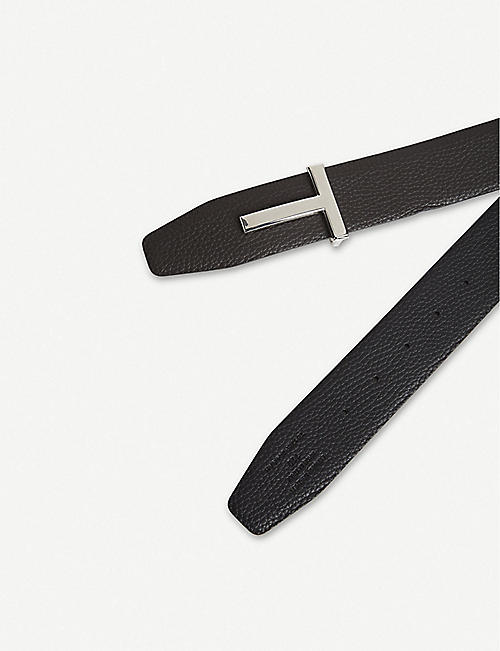 TOM FORD Reversible T logo leather belt