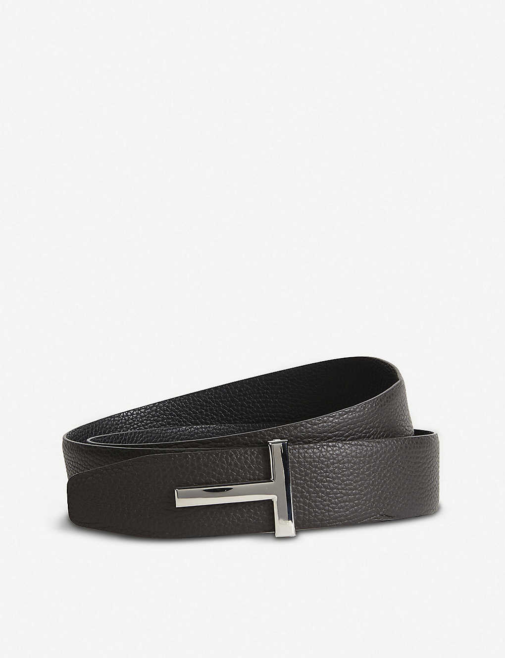 bef72f84054 TOM FORD - Reversible T logo leather belt