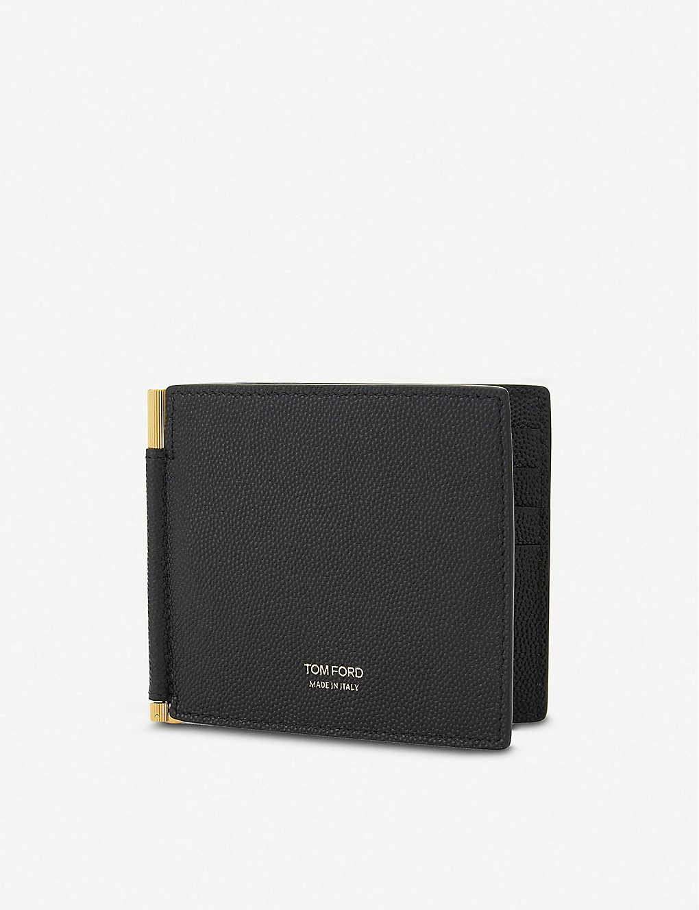 87fb471a86fa TOM FORD - Textured leather money clip wallet