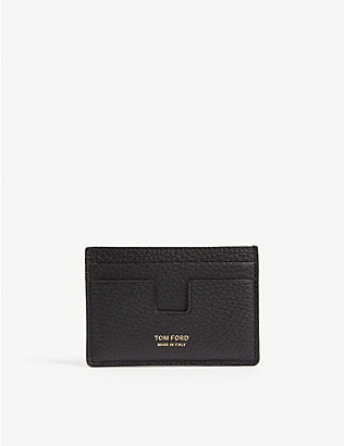 TOM FORD: Grained leather card holder
