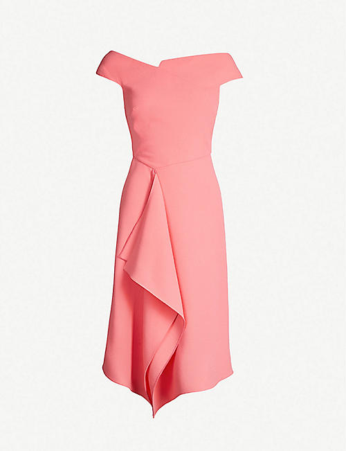 4f3a7848ea9 ROLAND MOURET Barwick fit-and-flare wool-crepe dress