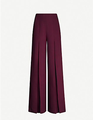 ROLAND MOURET: Burton wide-leg wool-crepe palazzo trousers