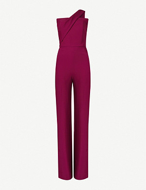 ROLAND MOURET Elwood one-shoulder crepe jumpsuit