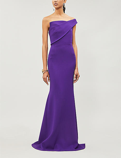 ROLAND MOURET Lockton wool-crepe gown