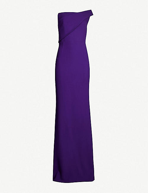 238dec2525f ROLAND MOURET Lockton wool-crepe gown