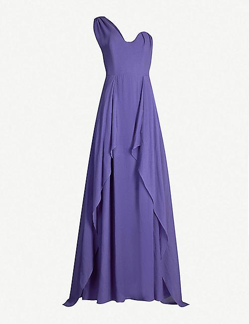 e55cddcd6c2 ROLAND MOURET Kimberworth ruffled asymmetric silk gown