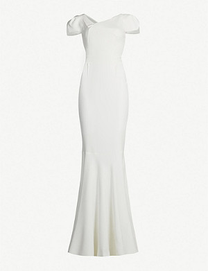 ROLAND MOURET Marilla short-sleeved fishtail crepe gown