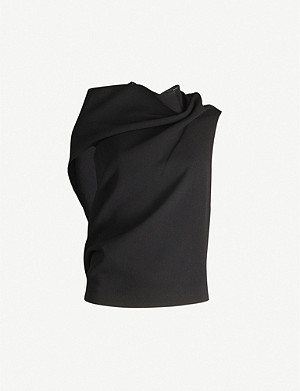 ROLAND MOURET Eugene asymmetric wool top
