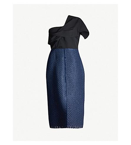178051ed4a0 ROLAND MOURET - Morita one-shoulder wool-crepe dress | Selfridges.com