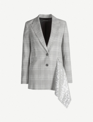 ROLAND MOURET Marmont checked wool-blend jacket