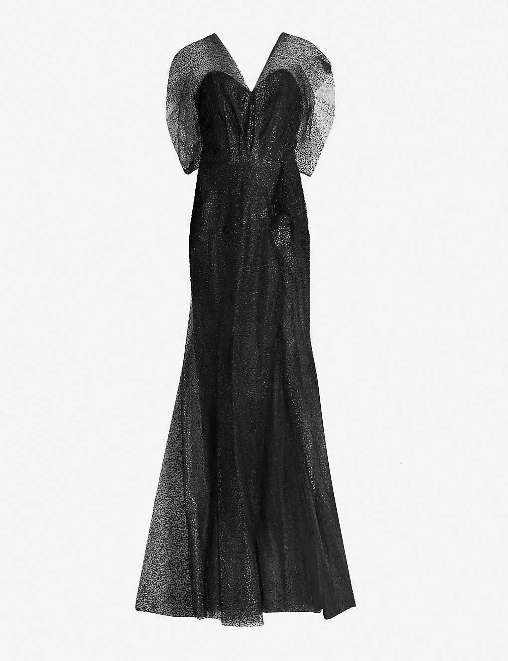 5ddf3508249f ROLAND MOURET - Hiscot tulle-overlay crepe gown | Selfridges.com