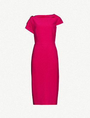 ROLAND MOURET Brenin draped bateau-neck crepe dress