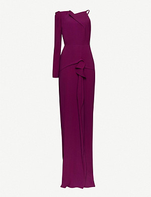 ROLAND MOURET Delamere puffed-sleeve crepe gown