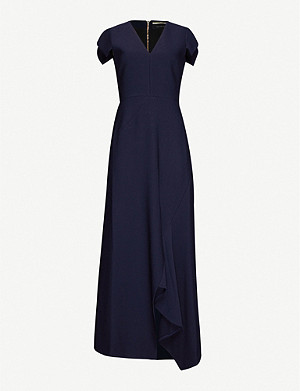 ROLAND MOURET Kinglake stretch-crepe maxi dress