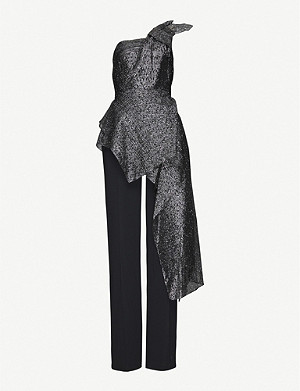 ROLAND MOURET One-shouldered crepe jumpsuit