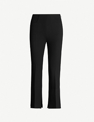 ROLAND MOURET Goswell high-rise crepe wide-leg trousers