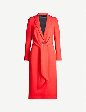 ROLAND MOURET Hollywell wool and silk-blend coat