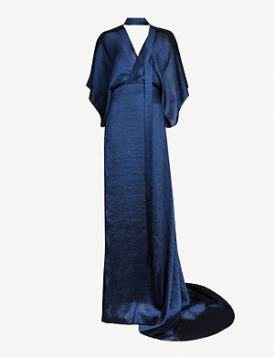 ROLAND MOURET Weston draped crepe gown