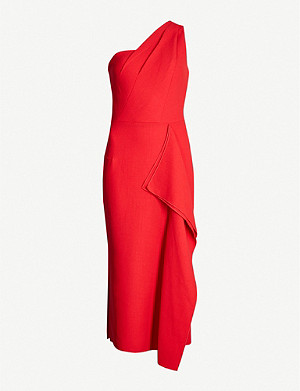 ROLAND MOURET Rivoli wool-crepe dress