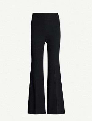 ROLAND MOURET Madison high-rise flared crepe trousers