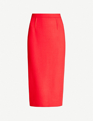 ROLAND MOURET Arreton high-waist wool-crepe pencil skirt