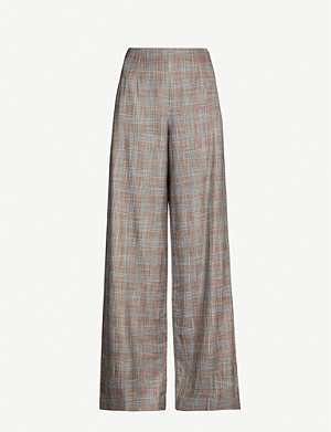 ROLAND MOURET Tayport wide high-rise bamboo trousers