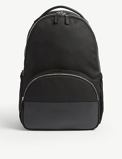 CORNELIANI Nylon and leather backpack