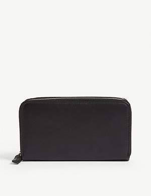 CORNELIANI Leather double zip wallet