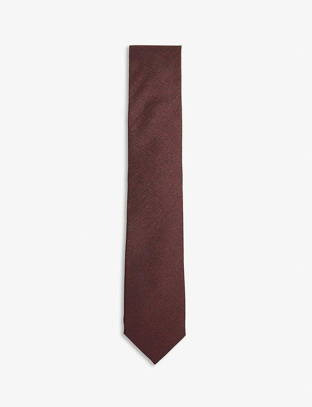 CORNELIANI - Solid silk and wool tie | Selfridges com