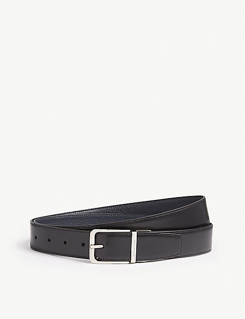 CORNELIANI: Reversible leather belt