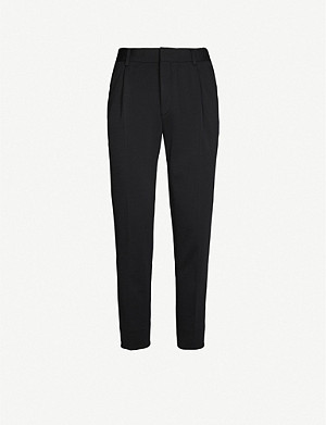 CORNELIANI Slim-fit wool and cotton-blend trousers