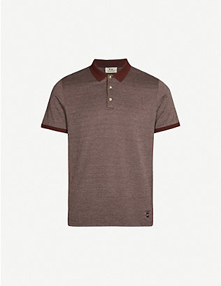 CORNELIANI: Slim-fit cotton-pique polo shirt