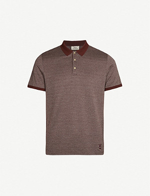 CORNELIANI Slim-fit cotton-pique polo shirt