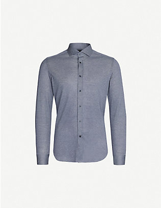CORNELIANI: Regular-fit cotton-piqué shirt