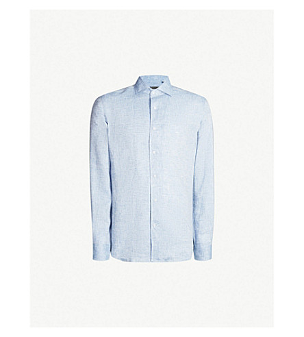 8bbbef7633d1 CORNELIANI - Slim-fit linen shirt
